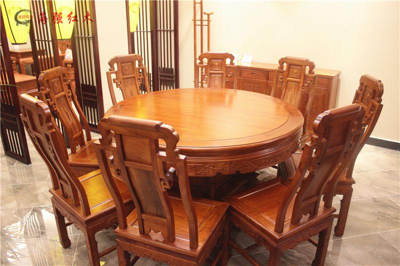 六合同春圆台餐桌