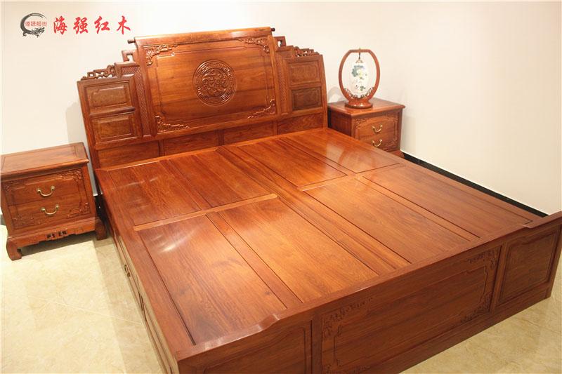 新中式红木家具大床-海强一号