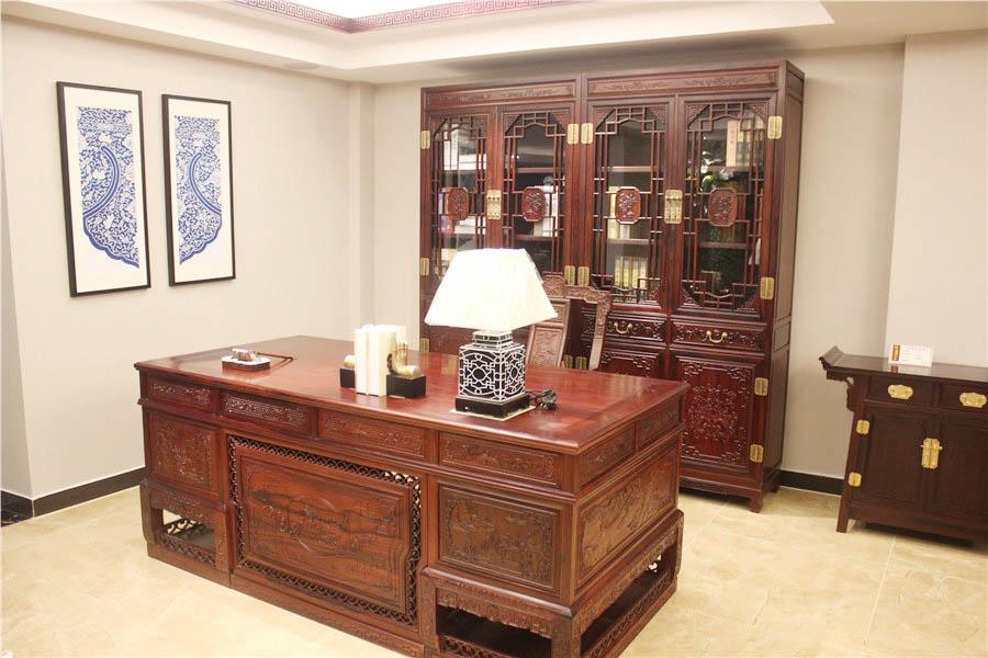 汉宫书桌书柜