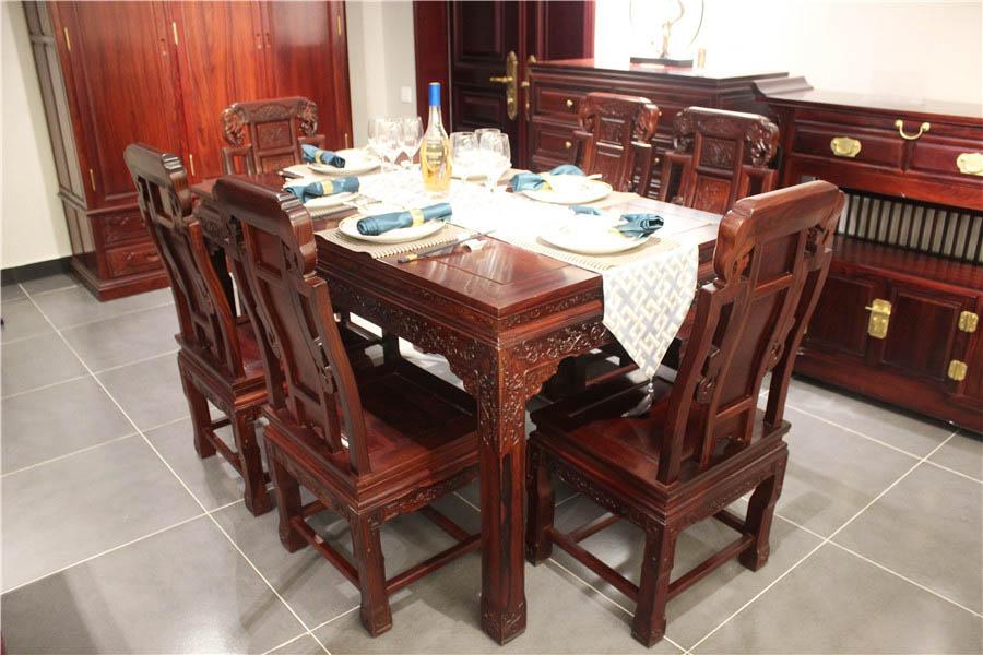 象头餐桌-红酸枝餐桌