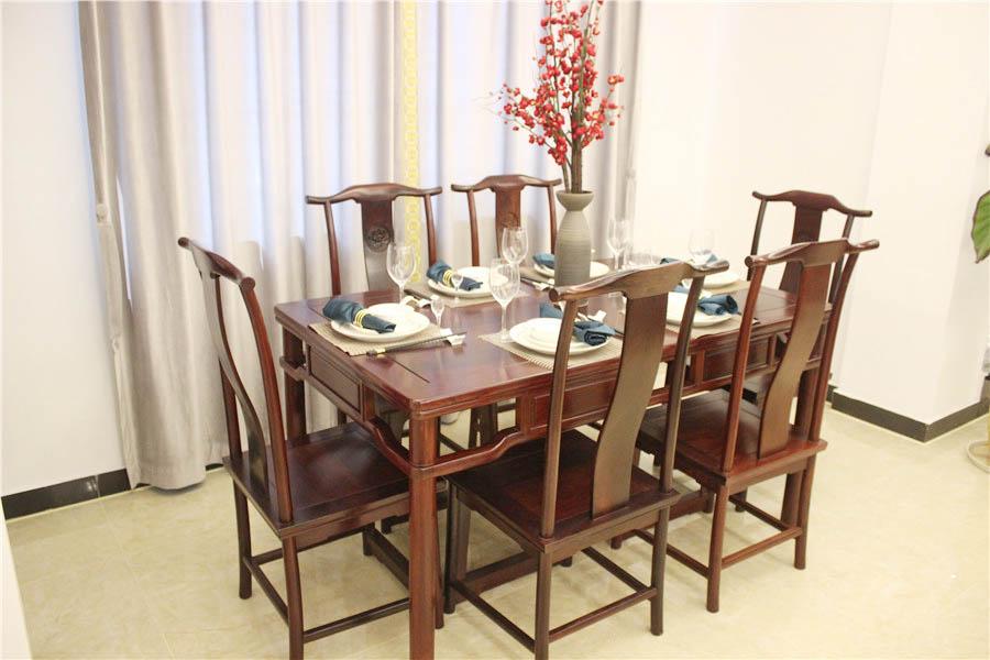 红酸枝明式长方形餐桌