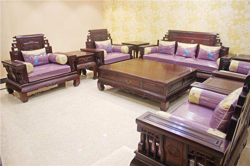 海強1號沙發-新中式沙發