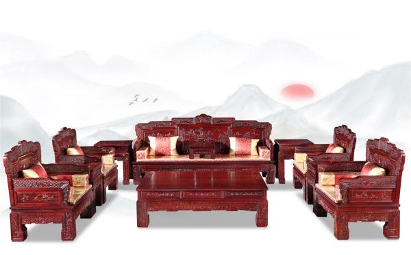 紅酸枝漢宮沙發