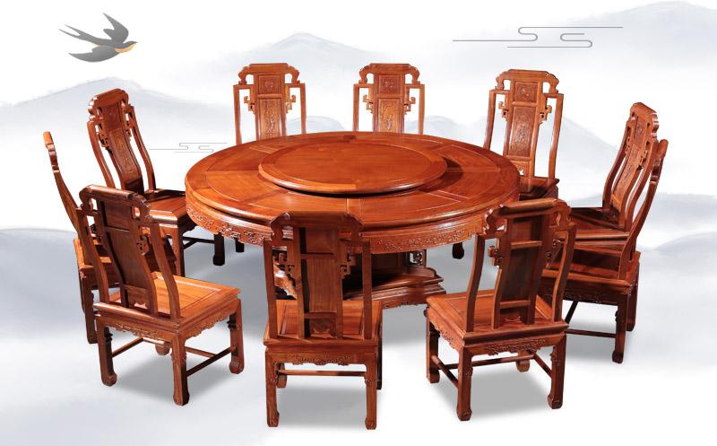 六合同春圓臺餐桌