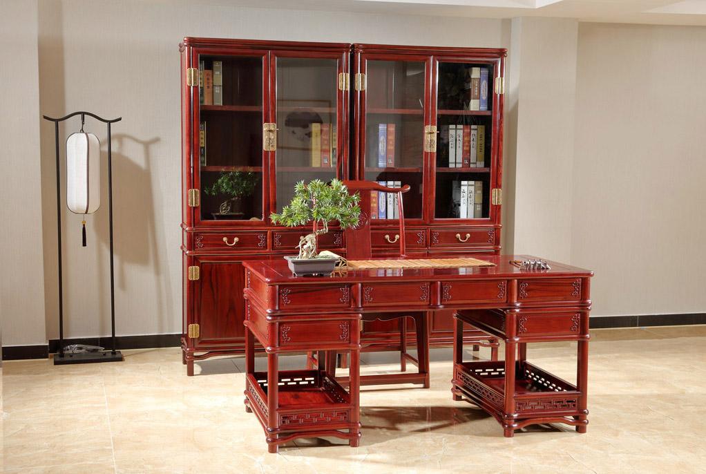 紅酸枝明式書柜